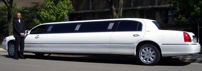White Ten Passenger Stretch Limousine